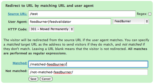 Redirect User Agent